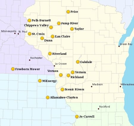Dairyland Solar Projects Map